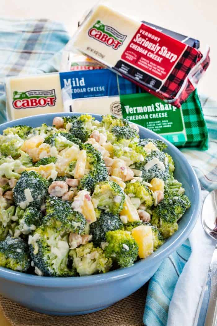 Tropical Broccoli Salad with Pineapple, Macadamia Nuts, and Cabot Cheddar Cheese