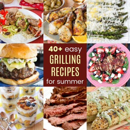 Square collage of the Best Summer Grilling Recipes