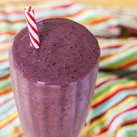 Top of a Cherry Almond Butter Smoothie