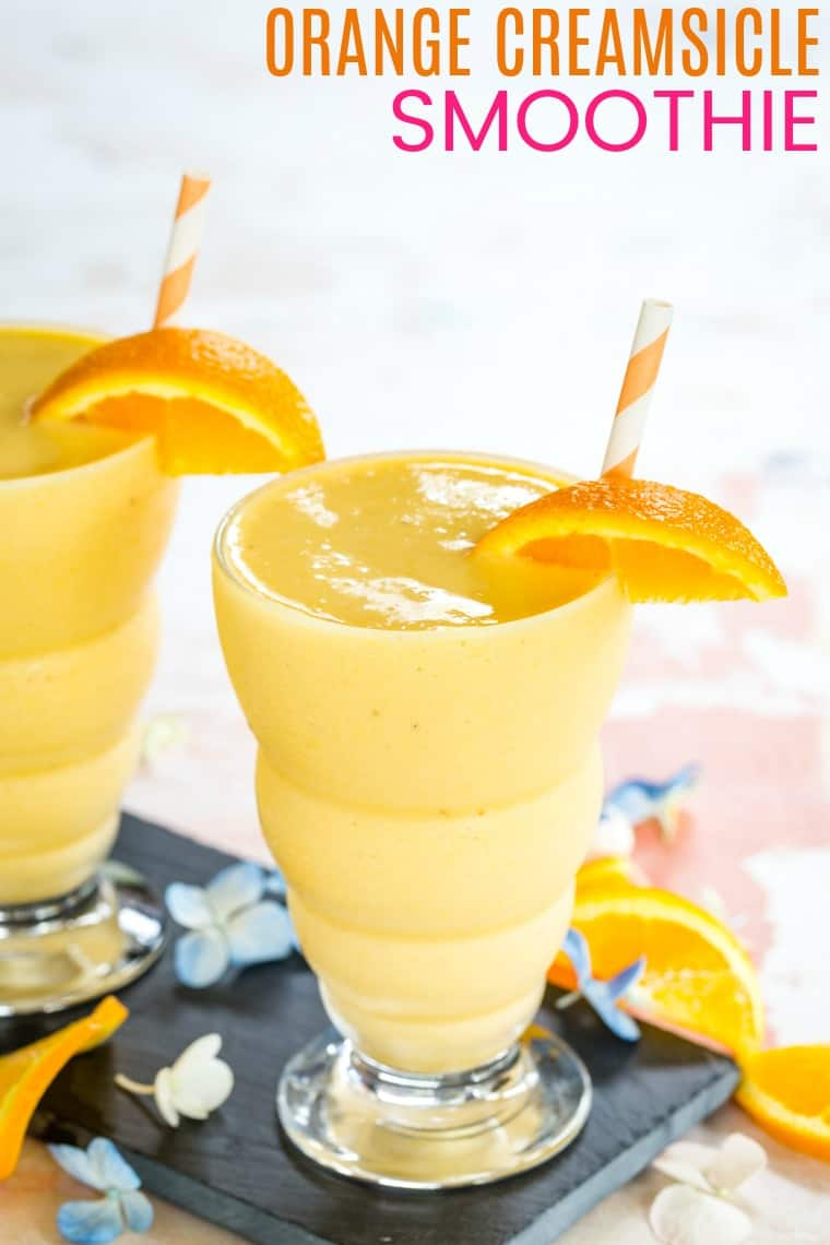 Fresh Orange Creamsicle Smoothie recipe with title