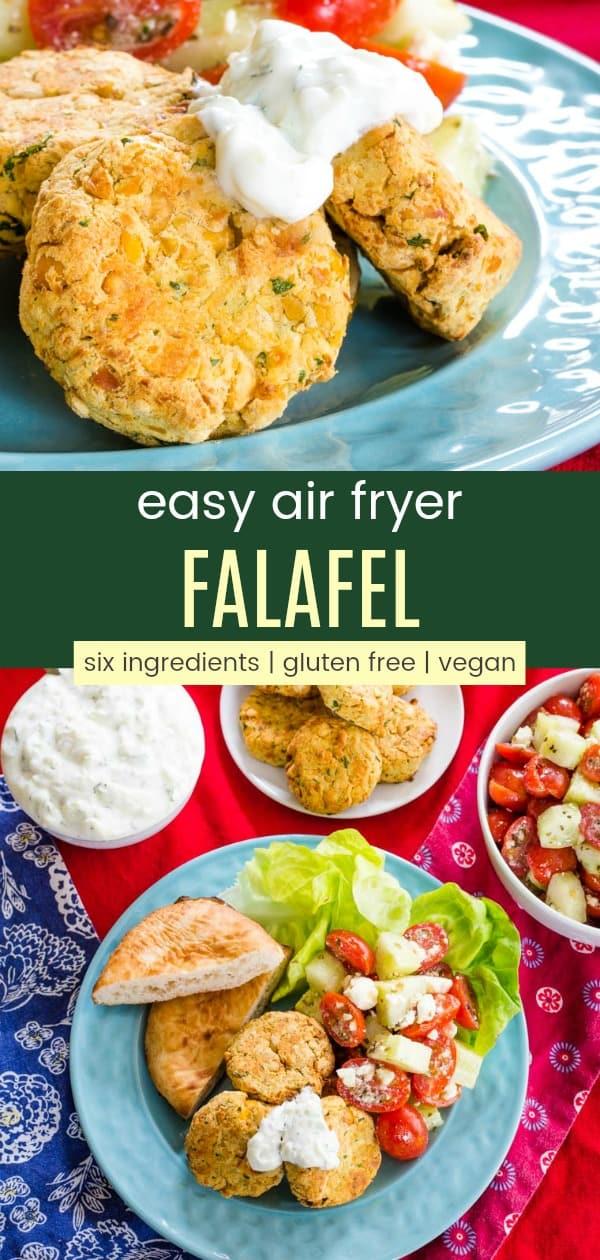 Collage of Easy Air Fryer Falafel