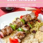 Grilled Greek Beef Kabobs Pin Template Pink
