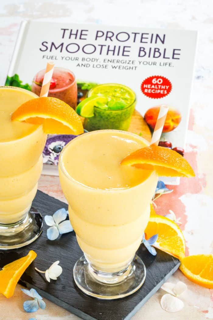 Orange Creamsicle Smoothie with The Protein Smoothie Bible cookbook