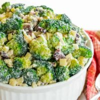 No-Mayo Apple Broccoli Salad with Walnuts and Cheddar