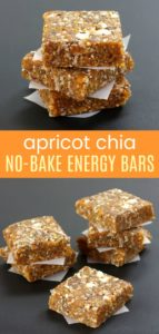 Apricot Chia No Bake Energy Bars Pin