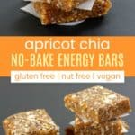Apricot Chia No-Bake Energy Bars Pinterest collage