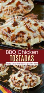 BBQ Chicken Tostadas Recipe Pinterest Collage