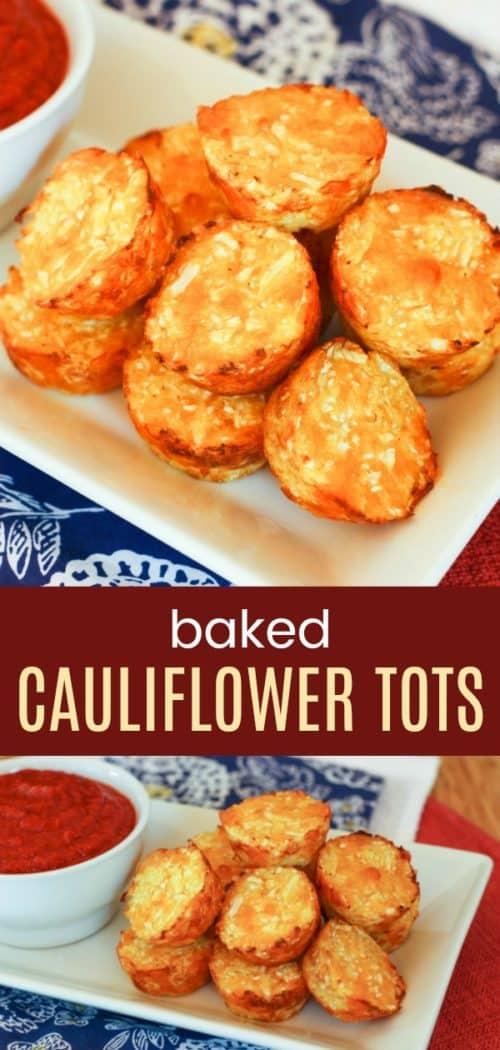 Baked Cauliflower Tots Pin
