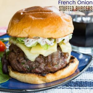 French Onion Stuffed Burgers