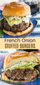 French Onion Stuffed Burgers Pin