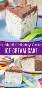 Funfetti Birthday Cake Ice Cream Cake Pin Collage