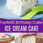 Funfetti Birthday Cake Ice Cream Cake Pin Collage