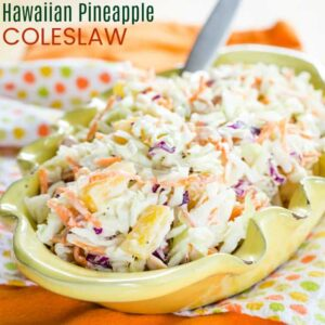 Hawaiian Pineapple Coleslaw with title