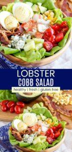 Summertime Lobster Cobb Salad Pinterest Collage
