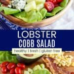 Summertime Lobster Cobb Salad Pinterest Collage