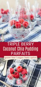 Mixed Berry Coconut Chia Pudding Cups Pinterest Collage