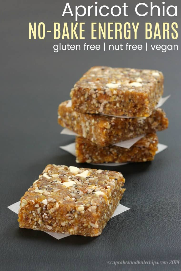 No-Bake Apricot Chia Homemade Energy Bars Recipe