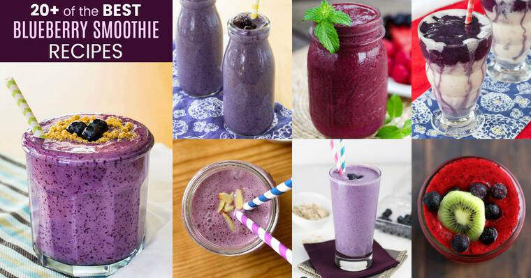 Over 20 of the Best Blueberry Smoothie Recipes