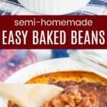 Semi Homemade Easy Baked Beans Pin