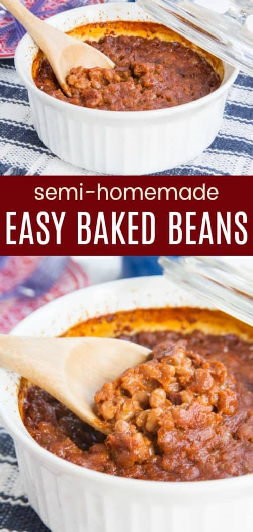 Semi Homemade Easy Baked Beans Pin