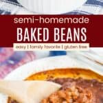 Semi Homemade Gluten Free Baked Beans Pinterest Collage
