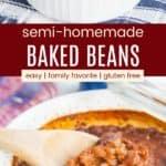 Semi Homemade Gluten Free Baked Beans Pinterest Collage