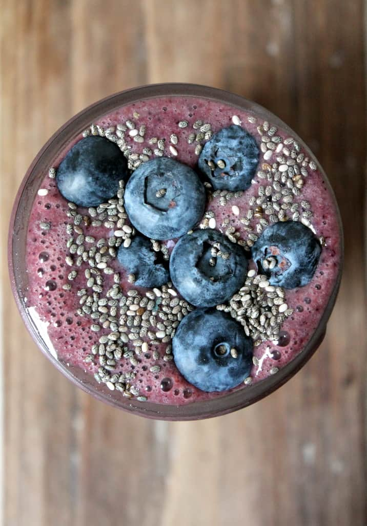 Wild Blueberry Banana Spinach Power Smoothie