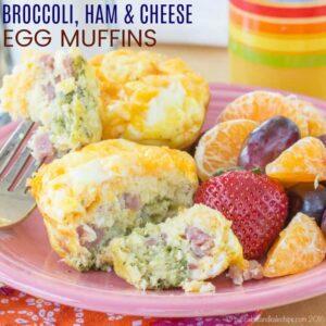 Broccoli Ham Cheese Egg Muffins Recipe