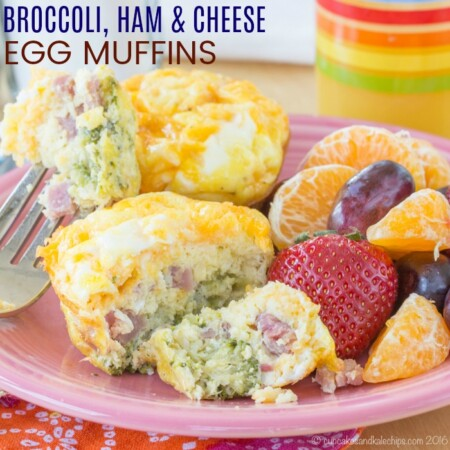 Broccoli Ham Cheese Egg Muffins Recipe