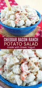 Cheddar Bacon Ranch Greek Yogurt Potato Salad Pin