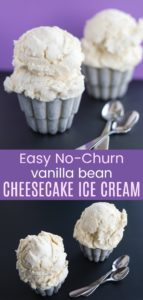 Easy No-Churn Vanilla Bean Cheesecake Ice Cream Pinterest Collage