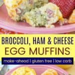 Gluten Free Low Carb Make Ahead Breakfast Egg Muffins Pin