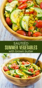 Brown Butter Sauteed Summer Vegetables Pin