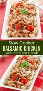 Slow Cooker Balsamic Chicken with Tomato and Basil Pin