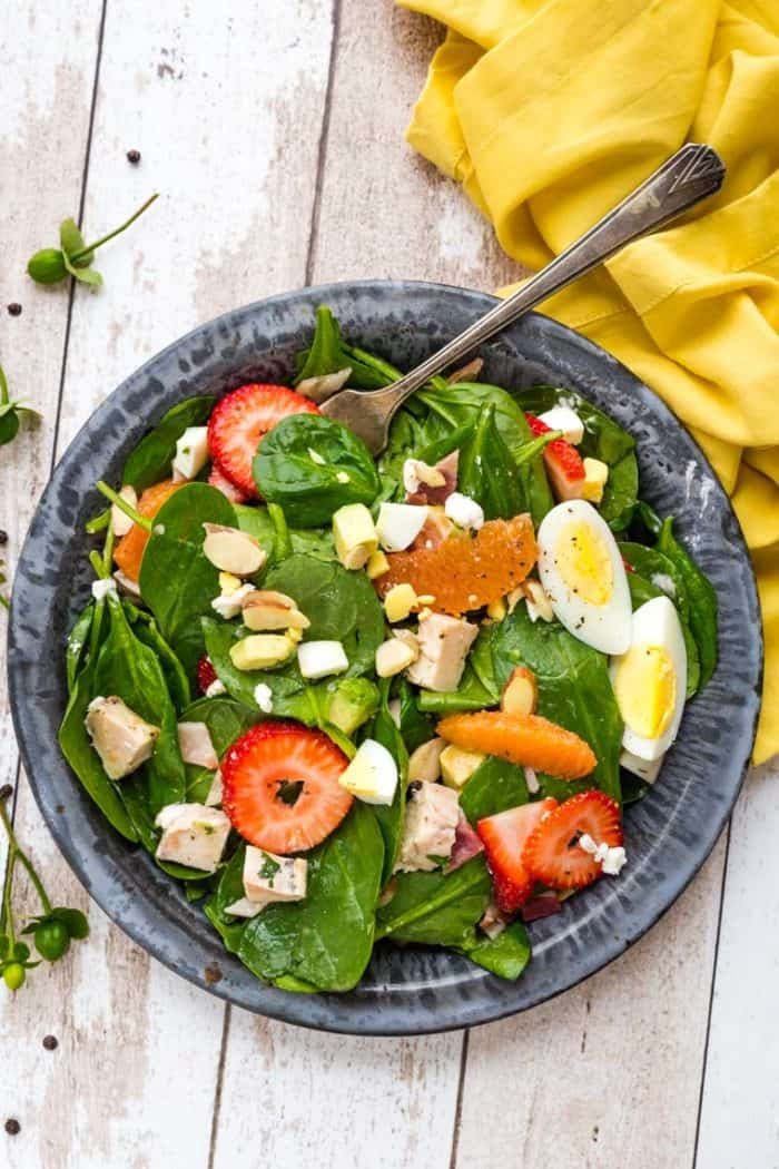 Tossed Strawberry Avocado Salad with Poppyseed Dressing from above