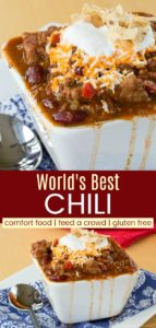 Best Chili Recipe Ever Pinterest Collage