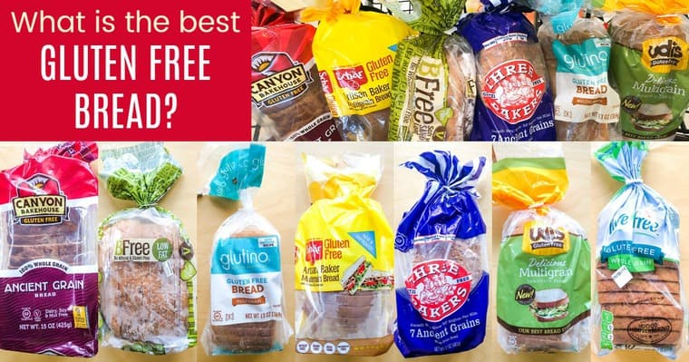 The different brands sampled in the Best Gluten Free Bread Taste Test