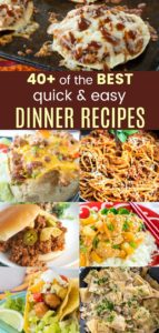 Best Quick and Easy Dinner Recipes Pin