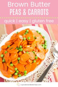 Brown Butter Peas and Carrots Pin Template Pink