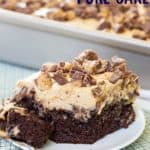 Chocolate Peanut Butter Cup Reese's Poke Cake Recipe