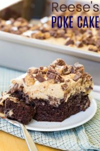 Chocolate Peanut Butter Cup Reese's Poke Cake Recipe