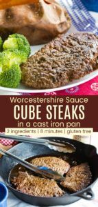 Easy Cube Steak Recipe Pinterest Collage