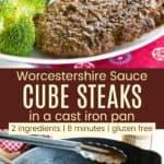 Easy Cube Steak Recipe Pinterest Collage