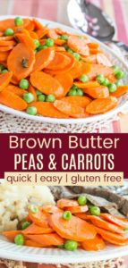Easy Peas and Carrots Recipe Pinterest Collage
