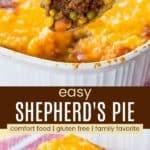 Easy Shepherd's Pie Pinterest Collage