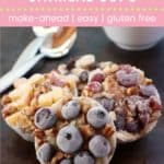 Make Ahead Breakfast Frozen Oatmeal Cups Pin Template Pink