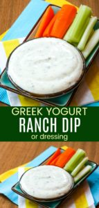Greek Yogurt Ranch Dip Pinterest Collage