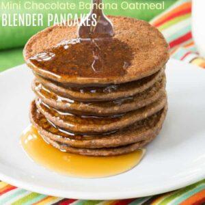Healthy Chocolate Banana Oatmeal Pancakes