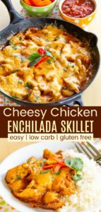 Low Carb Chicken Enchilada Skillet Pin