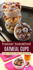 Make Ahead Breakfast Oatmeal Cups Pinterest Collage